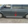 Боковые пороги (Line) для Volkswagen Transporter (T6) короткая база 2015+ (Erkul, bra118.lin213)