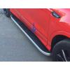 Боковые пороги (Tayga Grey) для Fiat 500X 2015+ (Erkul, bra216.tag173)