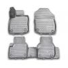 Коврики 3D в салон (4 шт.) для Audi A4 SD/Avant/Allroad 2016+ (Novline, ELEMENT3D0422210k)