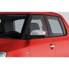 Накладки на зеркала (нерж, 2 шт.) для Skoda Fabia 2008-2014 (Carmos, car0195)
