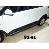 Боковые пороги (D42) для Hyundai Creta 2014+ (ST-LINE, HNCR.14.S2-01.4)
