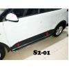 Боковые пороги (D51) для Hyundai Creta 2014+ (ST-LINE, HNCR.14.S2-01.5)
