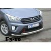Защита переднего бампера (двойная, D60) для Hyundai Creta 2014+ (St-line, HNCR.14.F3-10.6)