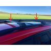 Поперечины на рейлинги (без ключа, 2 шт.) для Nissan NP300 (D22) 2008+ (Erkul, vb1dbl)