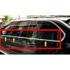 Нижние молдинги стекол (нерж., 6 шт.) для Bmw X5 (E53) 1999-2006 (Omsa Prime, car3557)
