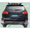 Защита заднего бампера (углы) Hyundai Santa Fe 2006- (Winbo, D130312)