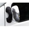Накладки на зеркала (нерж., 2 шт.) для Renault Trafic 2001-2015 (Carmos, car0155)