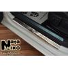 Накладки на внутренние пороги для Chevrolet Volt 2010+ (Nata-Niko, P-CH20)
