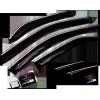 Дефлекторы окон (с хром молдингом) для Hyundai Sonata VII Sd 2017+ (Cobra, H25917CR)