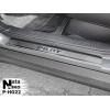 Накладки на внутренние пороги для Honda Pilot III 2015+ (Nata-Niko, P-HO28)
