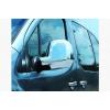 Накладки на зеркала (пластик, 2 шт.) для Citroen Berlingo 2012+ (Carmos, car3787)