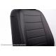 Чехлы в салон (Эко-кожа, черные) для Nissan Qashqai 2007-2013 (Seintex, 85447)