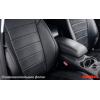 Чехлы в салон (Эко-кожа, черные) для Mitsubishi Lancer IX Sd 2003-2010 (Seintex, 86431)