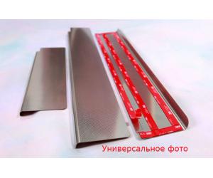 Накладки на пороги (Elite) для Mg 350 2011+ (Nata-Niko, PE-MG01)