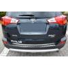 Накладка на задний бампер (полированная) для Toyota Rav4 IV 2013-2015 (Avisa, 35277)