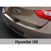 Накладка на задний бампер (полированная) для Hyundai i30 5d 2012-2016 (Avisa, 35628)