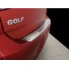 Накладка на задний бампер (полированная) для Volkswagen Golf VII 5d 2012+ (Avisa, 35679)