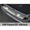 Накладка на задний бампер (полированная) для Volkswagen Passat (B7) Alltrack 2012+ (Avisa, 35844)