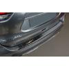 Накладка на задний бампер (черный сатин.) для Nissan X-Trail III (T32) FL 2017+ (Avisa, 45139)