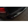 Накладка на задний бампер (черный хром) для Volkswagen Passat (B8) variant/alltrack 2014+ (Avisa, 51026)