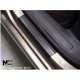 Накладки на пороги (карбон, 2 шт.) для Alfa Romeo Mito 2008+ (Nata-Niko, PK-AR05)