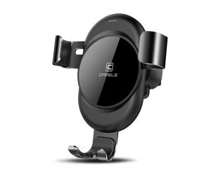 Автомобильный держатель с беспроводной зарядкой Cafele Black (KAI, MGC00BL)