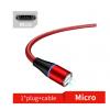 Магнитный кабель (3А, красный, Micro-Usb) для передача данных и быстрой зарядки (Kai, magkabred3a1m-01)