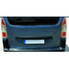 Накладки на задний бампер (нерж., 1 шт.) для Citroen Berlingo 2008-2018 (Omsa Prime, 1524093t)