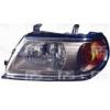 Передняя оптика (левая фара, серый отраж, хром рант) для Mitsubishi Pajero Sport I 2000-2008 (Fps, 3737 R3-P)