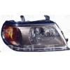 Передняя оптика (правая фара, серый отраж, хром рант) для Mitsubishi Pajero Sport I 2000-2008 (Fps, 3737 R4-P)