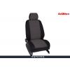 Чехлы в салон (Жаккард, темно-серый) для Mitsubishi L200 2013-2015 (Seintex, 86151)