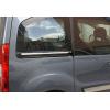 Молдинг под сдвижную дверь (нерж., 2 шт.) для Peugeot Partner Tepee 2008+ (Omsa Prime, 1524132)