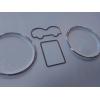 Кольца в щиток приборов (алюм., 2 кольца + 2 рамки) для Volkswagen (Transporter) T4 / Passat B5 / Golf 4 / Bora (с рамками) 1996+ (Dido-tuning, 21vwt4)