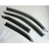 Дефлекторы окон (с молдингом из нерж. стали) для Mercedes-Benz S-class (W221L) 2005+ (Asp, BBZSL1023-W/S)