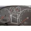 Кольца в щиток приборов (алюм., 6 шт.+рамка) для Audi A4/A6 1997-2004 (Dido-tuning, 21audiA6)