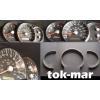 Кольца в щиток приборов (алюм., 3 шт.) для Kia Sorento 2002-2009 (Dido-tuning, 1ksor)