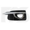 Решетка в бампер (правая, с отв. п/тум. с хром. молдингом) для Infiniti Q50 2013-2016 (Avtm, 3310912)