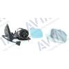 Зеркало боковое в сборе (правое, эл. регул., с подогревом, грунт., голуб.) для Volkswagen Golf IV/Bora 1997-2006 (Avtm, 186140127)