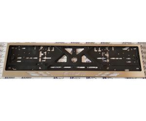Рамка под номерной знак (хром, с белой надписью Ford) (st-line, ford.01w)