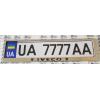 Рамка под номерной знак (хром, с черной надписью Iveco) (st-line, iveco.01)
