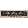 Рамка под номерной знак (хром, с черной надписью Subaru) (st-line, subaru.01)