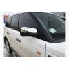 Накладки на зеркала (нерж., 2 шт.) для Range Rover III (L322) 2002-2012 (Carmos, om-ran-002)