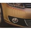 Накладки на противотуманные фары (нерж., 2 шт.) Volkswagen Caddy 2010-2015 (Carmos, car4492)