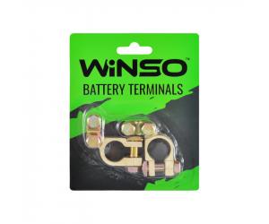 Клеммы аккумуляторные, цинк с медным покрытием, вес 90 грам, к-т 2шт. (Winso, 146300)