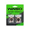 Клеммы аккумуляторные, цинк с медным покрытием, вес 95 грам, к-т 2шт. (Winso, 146700)