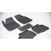 Коврики 3D в салон (резиновые., 5 шт.) для Hyundai Santa Fe IV (7 мест.) 2018+ (Seintex, 89821)