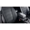 Чехлы в салон (Эко-кожа, со столиками, черные) для Volkswagen Tiguan 2017+ (Seintex, 88409)