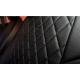 Чехлы в салон (Эко-кожа, ромб/черные, с подлокотн.) для Skoda Kodiaq Active 2016+ (Seintex, 92696)