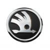 Оригинальная эмблема решетки радиатора (шильдик, черный) для Skoda Octavia A5/Superb/Fabia/Roomster 2001+ (Vag, 1ST853601AAUL)