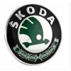 Оригинальная эмблема решетки радиатора (шильдик, зеленый) для Skoda Octavia A5 /Superb /Fabia/Roomster /Yeti 2001+ (Vag, 3U0853621BMEL)